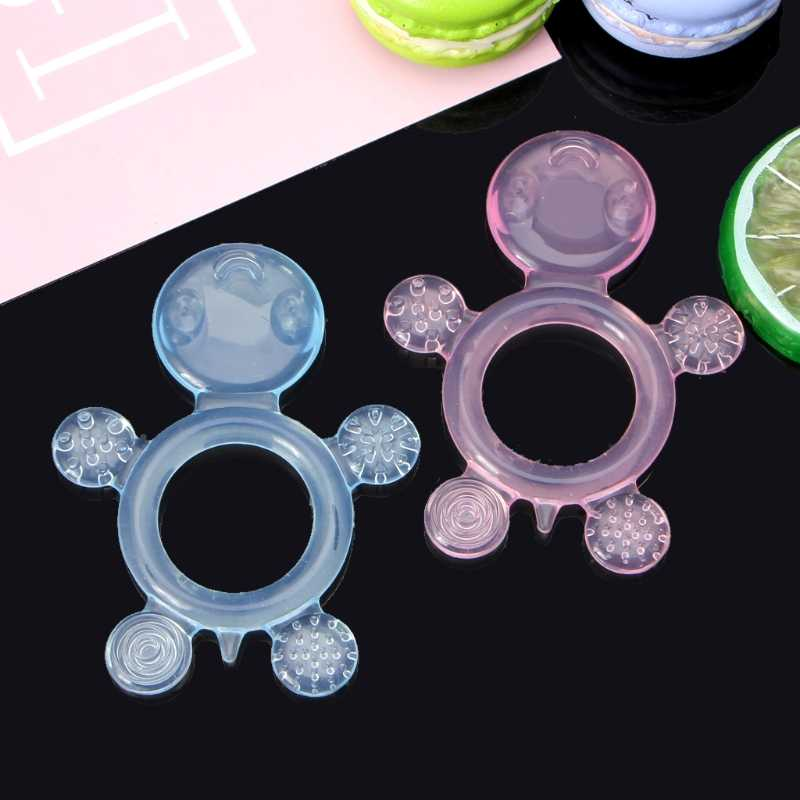 Tortoise Baby Soothing Teether BPA Free Silicone Chew Charms Baby Teething Toys