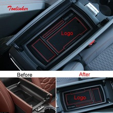 Tonlinker Interior Armrest Box Storage Cover sticker for CITROEN C5 Aircross 2018-19 Car Styling 1 PCS ABS Plastic