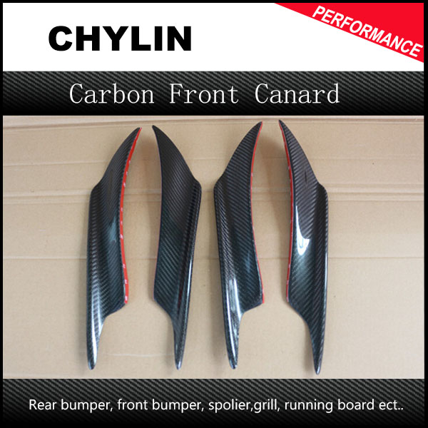 Top QUality Universal Carbon Fiber Car Bumper Moulding Trim Auto Bumper Decoration Front Bumper Fins Canards Splitters Long