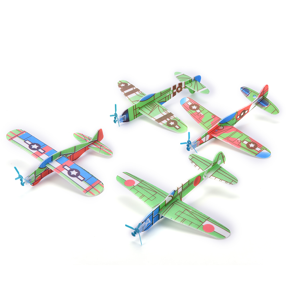 12Pcs Paper Airplane Model Imitate Birds Aircraft Toys DIY Assembly Flapping Wing Flight For Children Flying Kite image