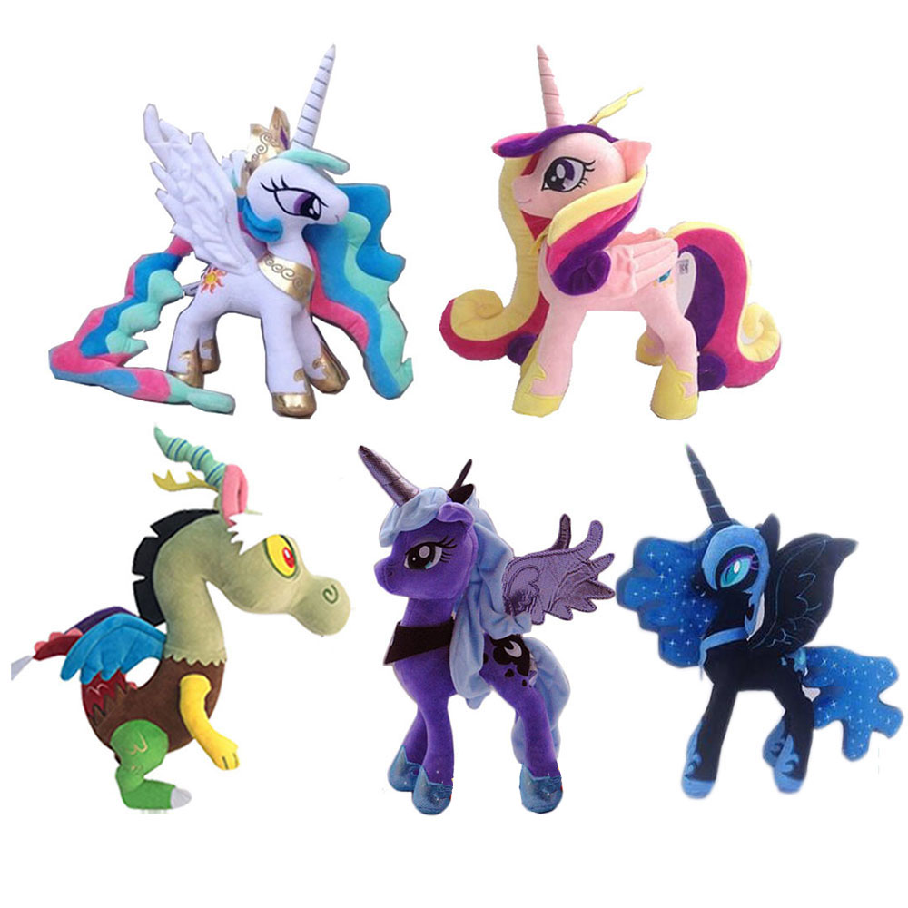 40cm My Little Pony Toy Rainbow Unicorn Horse Toy Stuffed Plush Toys Magic For Kids Present  Girl Toys For Children 2M10