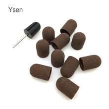 10pcs 16*25mm Nail Drill bits Block Sanding Caps Bands Rubber Mandrel Grip Manicure Pedicure Tools Polishing Accessories