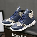 Fashion Autumn Men Casual Shoes PU Leather Men High Top Casual Shoes Breathable Winter Men Boots Personality Snake Veins