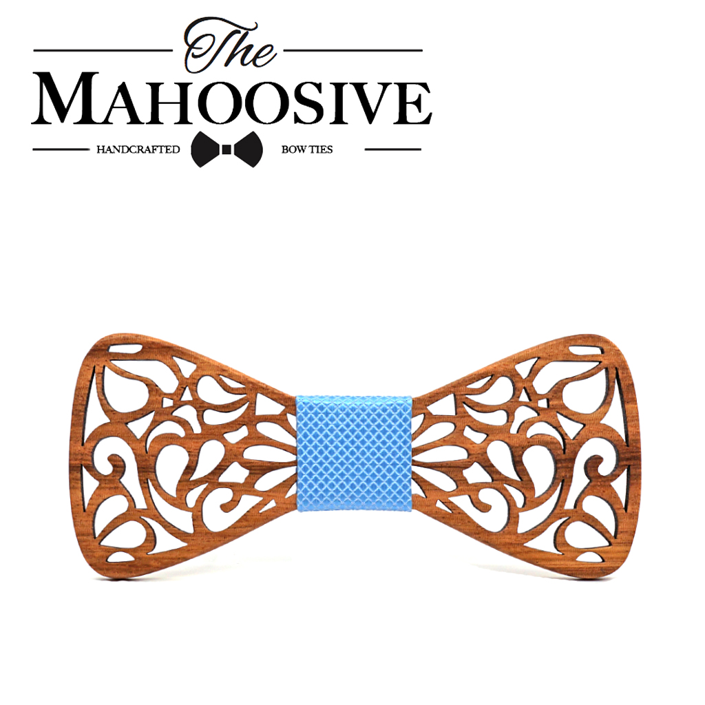 Mahoosive New Floral Wooden Bow Ties for Males Bowtie Hole Butterflies Marriage ceremony go well with picket bowtie Shirt krawatte Bowknots Slim tie HTB1zVH0g8jTBKNjSZFuq6z0HFXaO