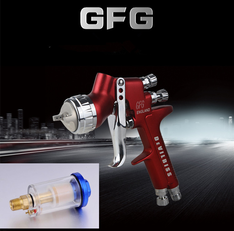 цена на Wholesale and retail Devilbiss GFG professional spray gun HVLP car paint gun, 1.3mm  painted high efficiency, good atomization