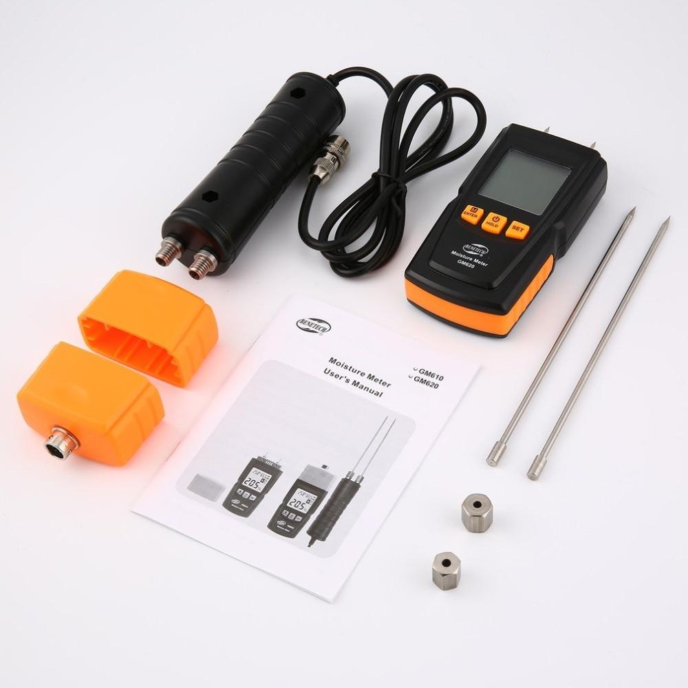 Benetech GM620 humidimètre bois numérique hygromètre testeur d'humidité contreplaqué matériaux en bois LCD rétro-éclairage détecteur d'humidité - 3