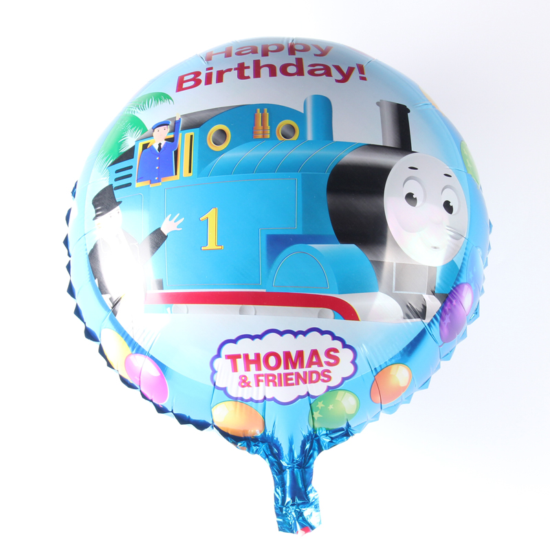 10pcs/lot Wholesale Thomas& Friends Happy Birthday Balloon Aluminum Foil Balloon