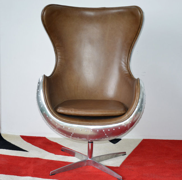 Aluminum Skin Fibergl Retro Vintage Clothing Coffee Domestic Furniture Industry Style Office Chairs Special Edition