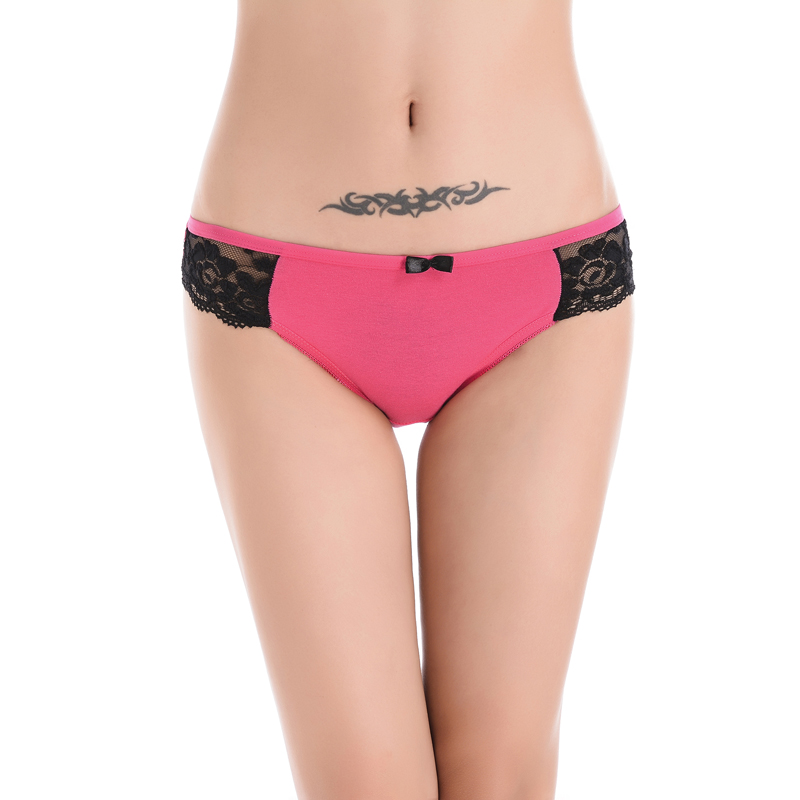 2018 New Arrival Patchwork Polyester Cueca Panties Women Rushed Butt Lifter Gas Underwear Thongs Cotton Lace Comfort Briefs