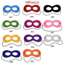 10pcs/lot Superhero Solid Color Mask Batman Star Wars Darth Vader Cosplay Kids Birthday Party DIY Masquerade Costumes Masks