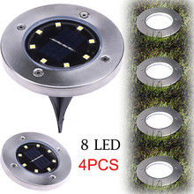 Buy deck solar light and get free shipping on aliexpress ship from us hamboder super 4 pcs 8 led solar power buried light under ground lamp outdoor path aloadofball Gallery