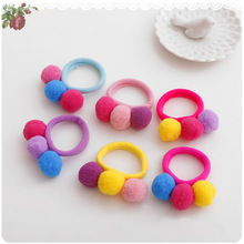 Hot Sale 2017 New Cute 3 Balls Elastics Hair Holders Bands