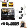 SmartYIBA Kit de caméra vidéo 960P   Caméra de sécurité vidéo HD IP sans fil 4CH  système de Surveillance Wifi à Vision nocturne étanche