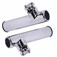 """2PCS Boat Stainless Steel Clamp On Fishing Rod Holder Rails 7/8"""" to 1"""" Tube"""