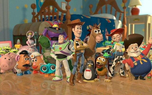 3x2 m Polyester Toy Story Bande Dessinée photographie studio fond qualité supérieure Ordinateur impression d'anniversaire arrière-plan de photo alp210048