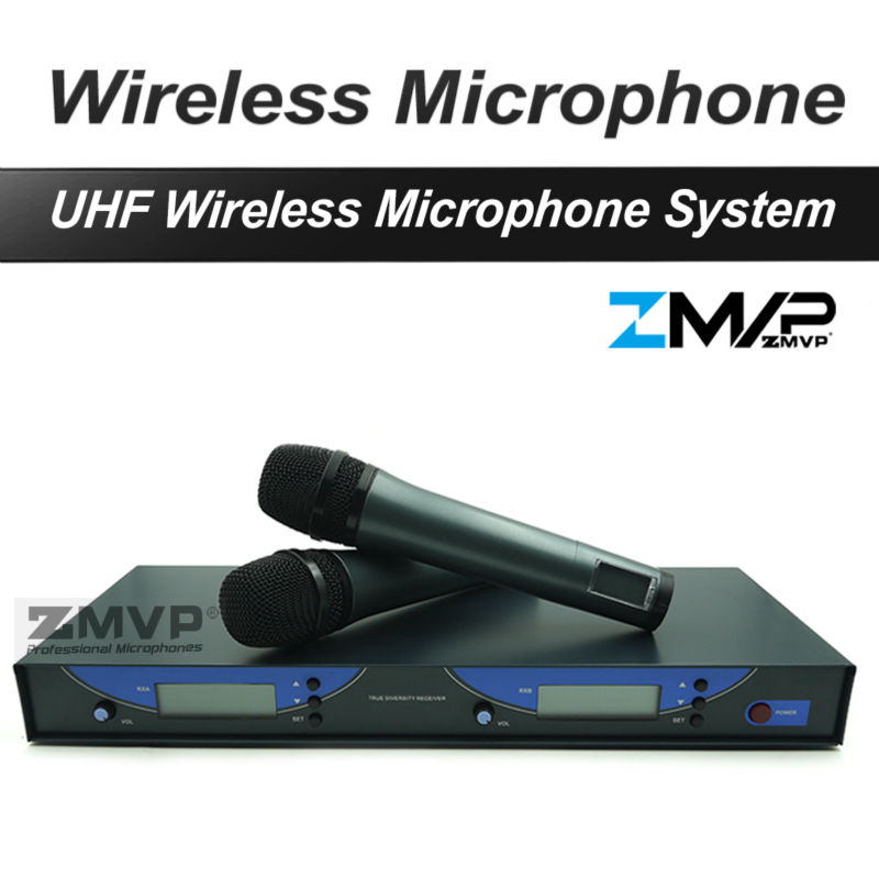 Free shipping! 545 G2 Professional UHF Wireless Microphone Monitor System with Dual Handheld Transmitter Microfone Mic boya by whm8 professional 48 uhf microphone dual channels wireless handheld mic system lcd display for karaoke party liveshow