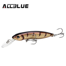 ALLBLUE New Professional Wobbler Fishing Lure Floating Minnow Crank Bait 100mm 18.5g Swimbait Crankbait Pike Equipped Black Hook