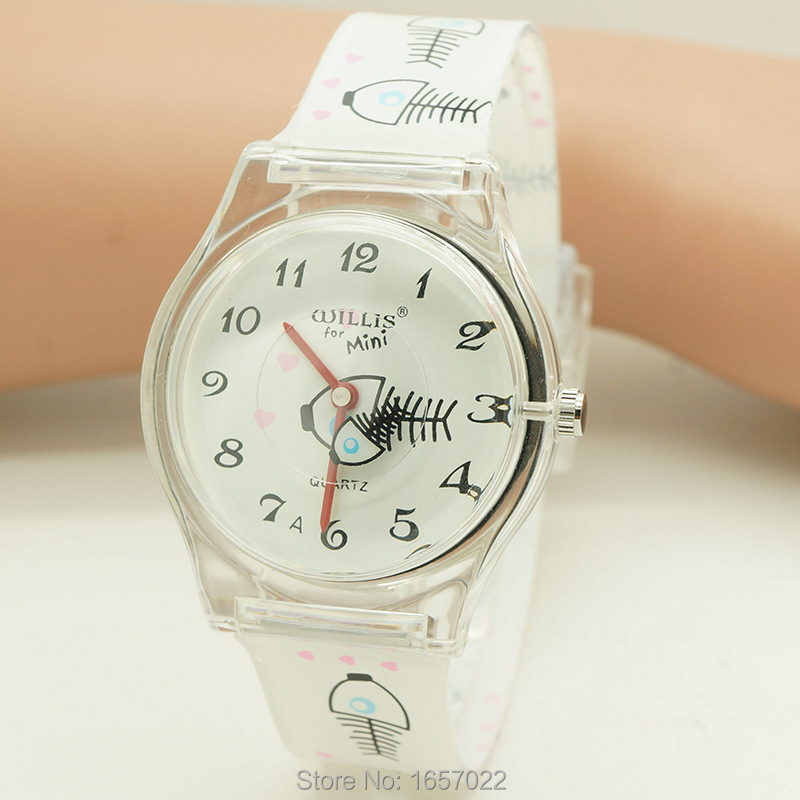 New Arrived Luxury Brand Children Fish Design Lovely Watch Fashion Women Casual Mini Plastic Waterproof  Wristwatch
