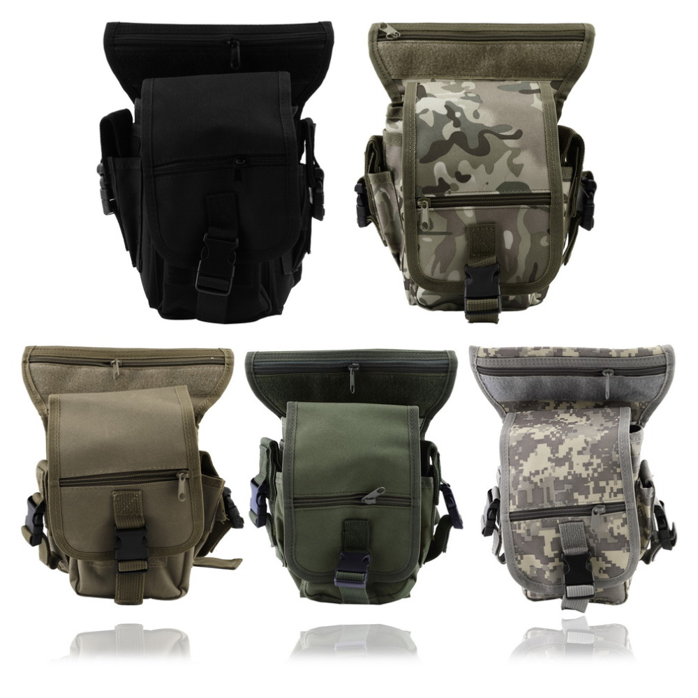 Outdoor Hunting Camping Bag Tactical Military Drop Leg Bags Panel Utility Waist Belt Pouch Strap Container Gym Fit Waist Packs
