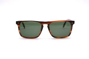 Image 4 - Square Sunglasses Women Vintage Sunglasses Men  Acetate Frame with Glass Lenses  OV5189 Bemardo Sun Glasses Retro Sunglasses