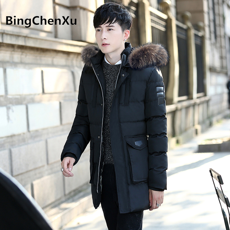 winter coat men thick warm Brand down parka All-match long outwear Quality Cotton-Padded man winter jackets Big Yards 562 jackets men north winter coat thick warm cotton parka homme jacket mens brand clothing napapijri parkas man fashion down jackets