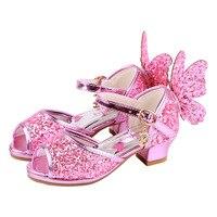 Heel Sandals For Girls Kids High Heels For Baby Girl Enfant Leather Sandals Shoes Girls Heels