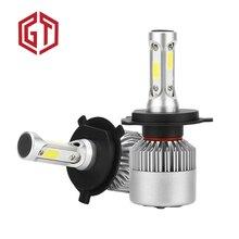 GUANGJI 1 pair Car Lights Bulbs LED H1 H3 H4 H7 H11/8/9 H13 880 9004 9005 9006 9007 9012 5202 Auto Headlights 12V Led Light