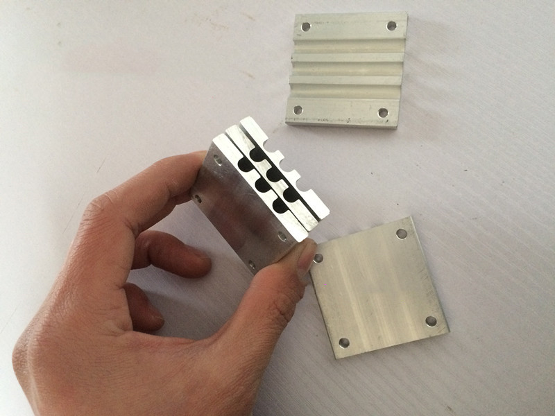 6mm Heat Pipe Pressing Block / Heat Pipe Buckle / 50*50mm 100*50mm Circular Heat Pipe Pressing Plate Mute Assembly Buckle