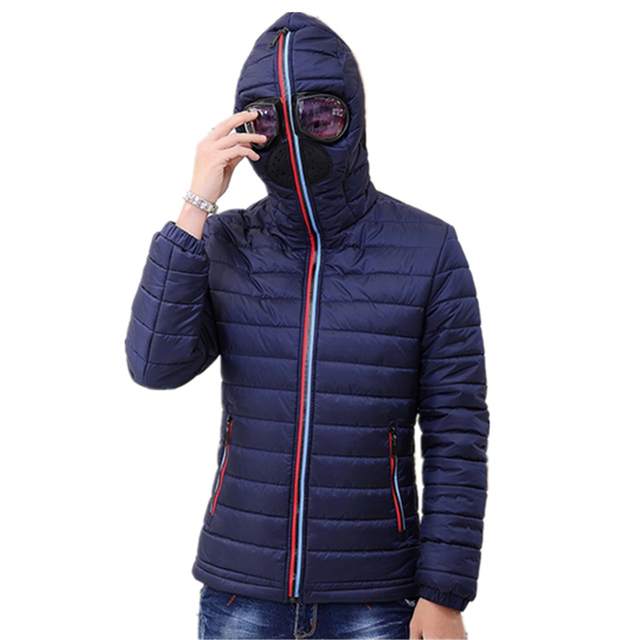 Padded Hooded Quilted Jacket 2016 Brand Parka Men Winter Coat ... : quilted jacket with hood mens - Adamdwight.com