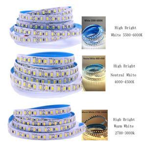 Image 2 - Super Bright 5M 2835 SMD 120led/m 600Leds White  Warm White Flexible LED Strip 12V Non Waterproof more brighter than 3528 strip