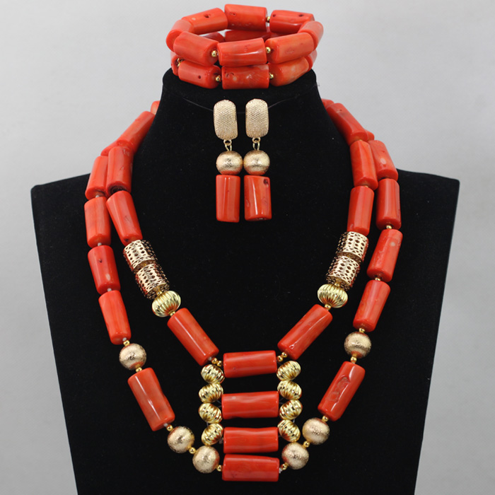 Luxury Big Coral Beads Wedding Jewelry Set  New Indian Bridal Costume Women Jewelry Set Bib Free Shipping CNR625Luxury Big Coral Beads Wedding Jewelry Set  New Indian Bridal Costume Women Jewelry Set Bib Free Shipping CNR625