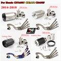 CBR650 передний ряд боковой Tntact нержавеющая сталь мотоцикл полный выхлопные системы трубы CBR 650 для Honda CB650F CBR650F 2014-2018 17