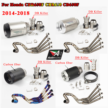 CBR650 Front Row Side Tntact Stainless Steel Motorcycle full Exhaust systems Pipe CBR 650 For Honda CB650F CBR650F 2014 2018 17