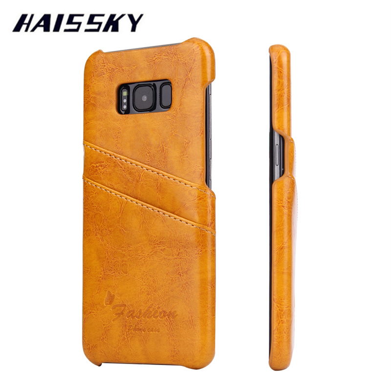 HAISSKY Vintage Leather Case For Samsung Galaxy S8 Plus S6 ...