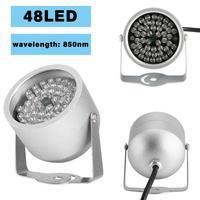 Прочный 48 светодиодный осветитель свет CCTV ИК инфракрасный ночное видение лампа Securit 850nm 12 В для камеры скрытого видеонаблюдения