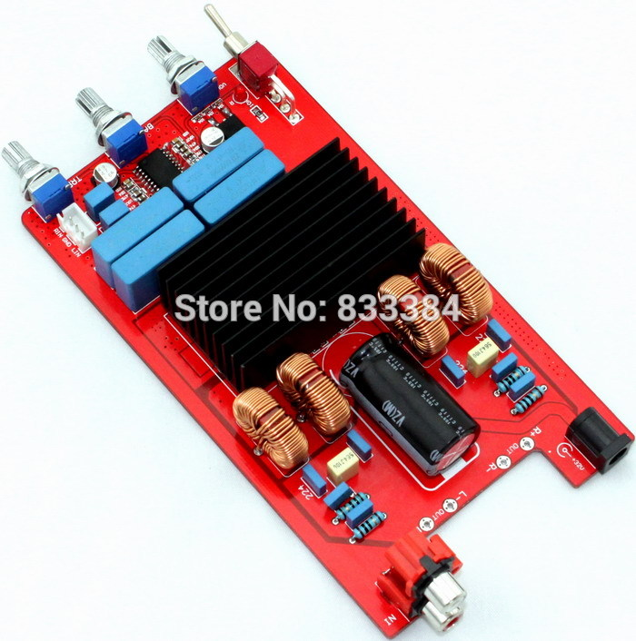 цены Hot sale TDA7498 + LM1036 Class D Audio Amplifier Board 100W + 100W