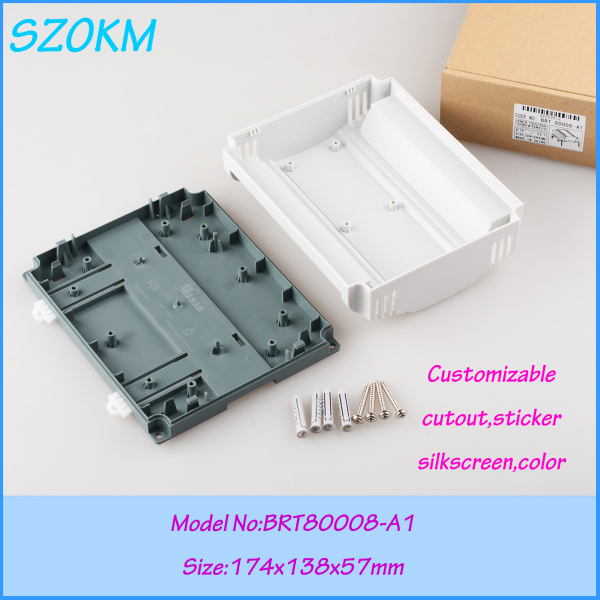 3 pcs/lot free shipping controller plc box plastic abs  industrial electronics enclosure for electronics 174x138x57 mm 1 piece free shipping anodizing aluminium extruded enclosure for electronics with rubber ring 25x58x85mm