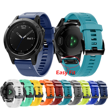 22MM Quick Release Silicone Watchband Strap for Garmin Fenix 5 /5 Plus Wrist Band Strap Easy Fit For Garmin forerunner 935 Strap