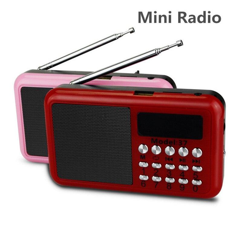 Multifunción Portátil de Radio Tarjeta Neutral Ancianos Reproductor de MP3 3 en 1 Altavoz Soporte de Tarjeta TF y Usb de Música MP3/4 FM Mini Radio