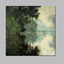 Claude Monet Branch of the Seine Near Giverny Landscape Oil Painting on Canvas Wall Picture for Living Room Sofa Cuadros morning on the seine by monet canvas painting