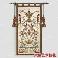 Flybird around Palace vase Home decoration tapestry 125*66cm Wall hanging Aubusson Medieval jacquard fabric home textile H116
