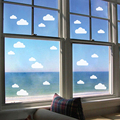 16pcs/Set Clouds Shape Glass Sticker Frosted Matt White Window Film Eco-friendly Waterproof Vinyl Window Stickers Home Decor