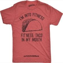 87172eb63 novelty tshirt women Mens Fitness Taco Funny T Shirt Humorous Cinco De Mayo  Tee