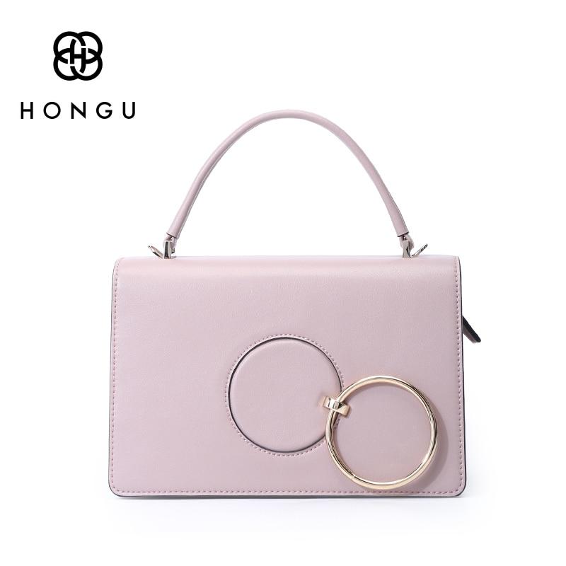 все цены на Hongu Genuine Leather Women Luxury Cover Flap Tote Crossbody Bag HandBags Designer Women Famous Brand Lady messenger Louis Bags