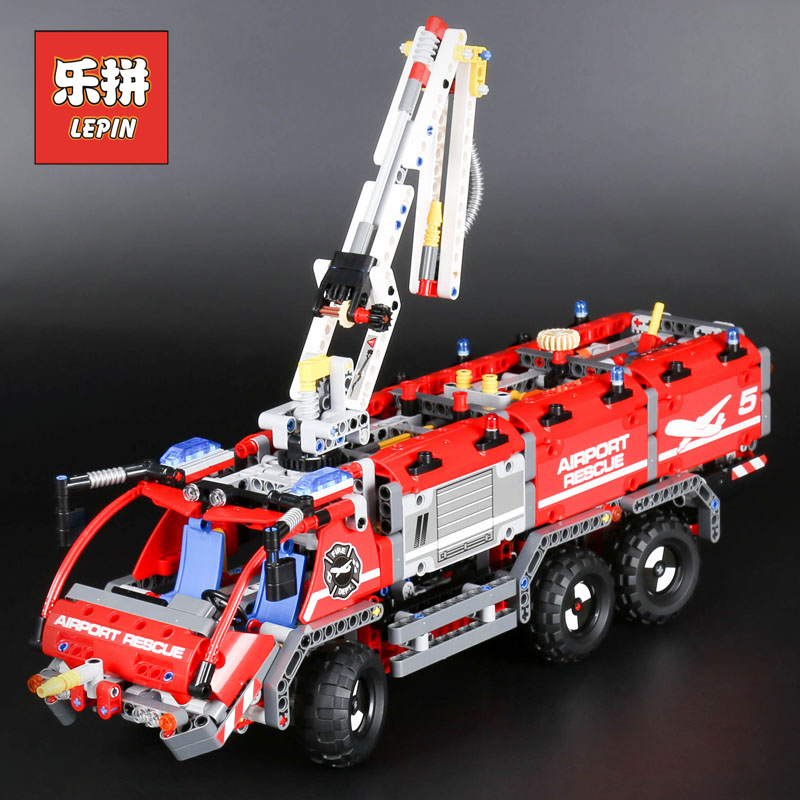 Lepin Technic 20055 Mechanical Series the Rescue fire Vehicle Building Blocks Bricks Toys Compatible Legoinglys technic 42068 lepin 20076 technic series the mack big
