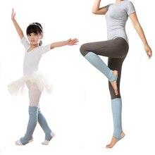 Детская грелка для ног для девочек, наколенники, зимние женские, для балета, йоги, латинских танцев, теплые вязаные гетры, наколенники для девочек, защита от колена, акция