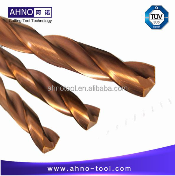AHNO Tungsten Solide Carbide Drill Bit 3xD for CNC Machine, AlCr-based copper Balzers Coating,Highest quality Carbide end mills hrc50 ahno 4 flutes or 2 flutes tungsten carbide cnc end mills milling cutters tools updated alcr based copper coating 2018