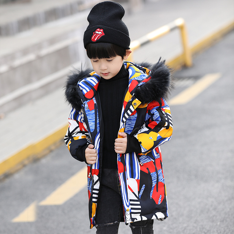 купить Children Boys Autumn Winter Coat Clothing 2018 Thin Light Long Duck Down Jacket Hooded Girls Winter Jacket Age 4 6 8 10 12 Year по цене 3341.4 рублей