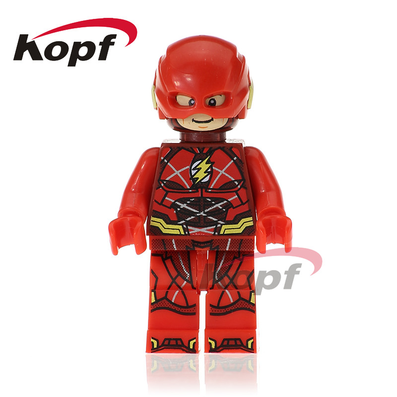 Single Sale Super Heroes The Flash Justice League Aquaman Wonder Woman Miracle Man Building Blocks Toys for children Gift XH 669