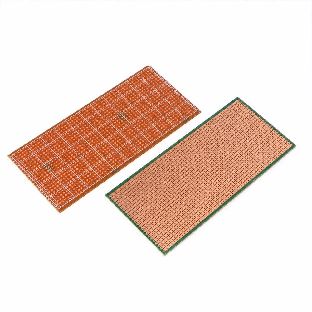5Pc 6.5x14.5cm Stripboard Veroboard Uncut PCB Platine Single Side Circuit P MECA